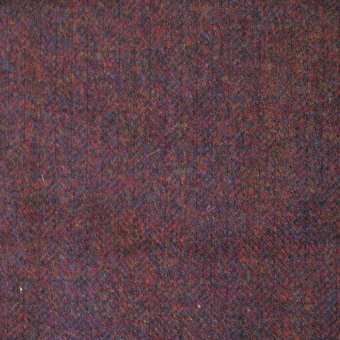 Wine & Brown Herringbone Tweed