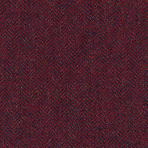 Red & Wine Herringbone Tweed