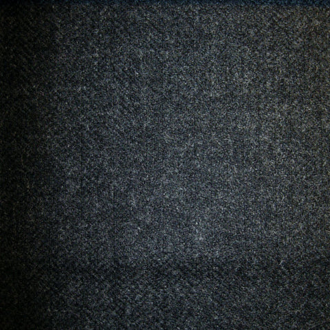 Dark Grey & Navy Blue Herringbone Tweed