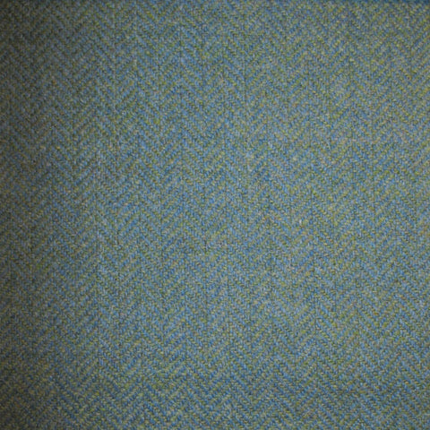 Light Green & Light Blue Herringbone Tweed
