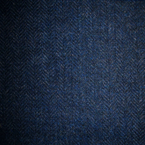 Navy Blue & Medium Blue Herringbone Tweed