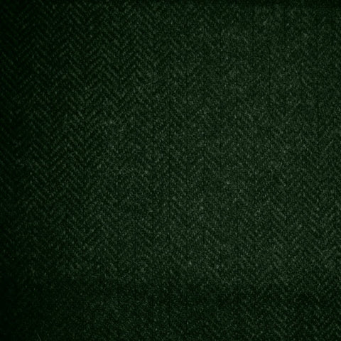Dark Green & Moss Green Herringbone Tweed