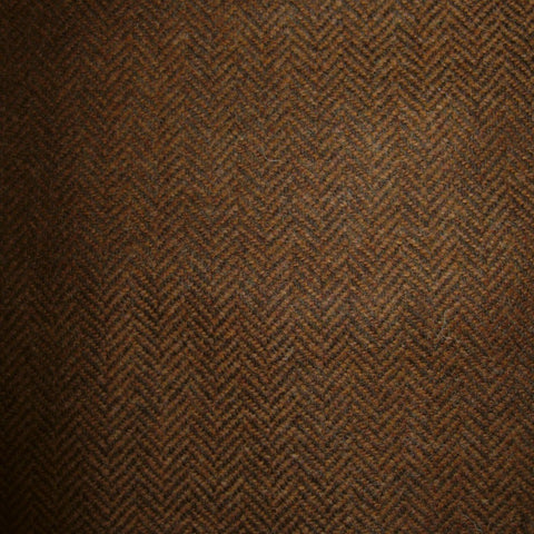 Tan & Dark Brown Herringbone Tweed