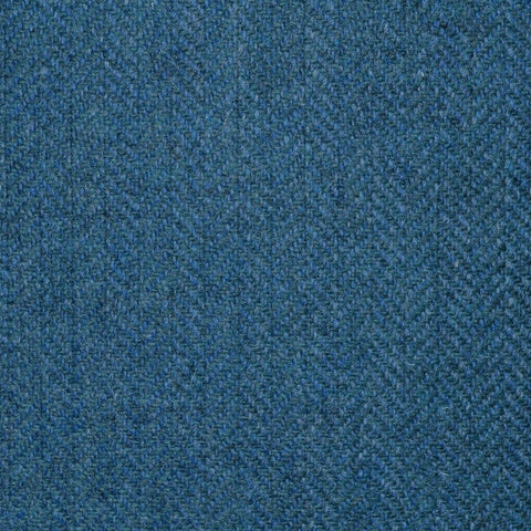 Sea Blue Herringbone Tweed