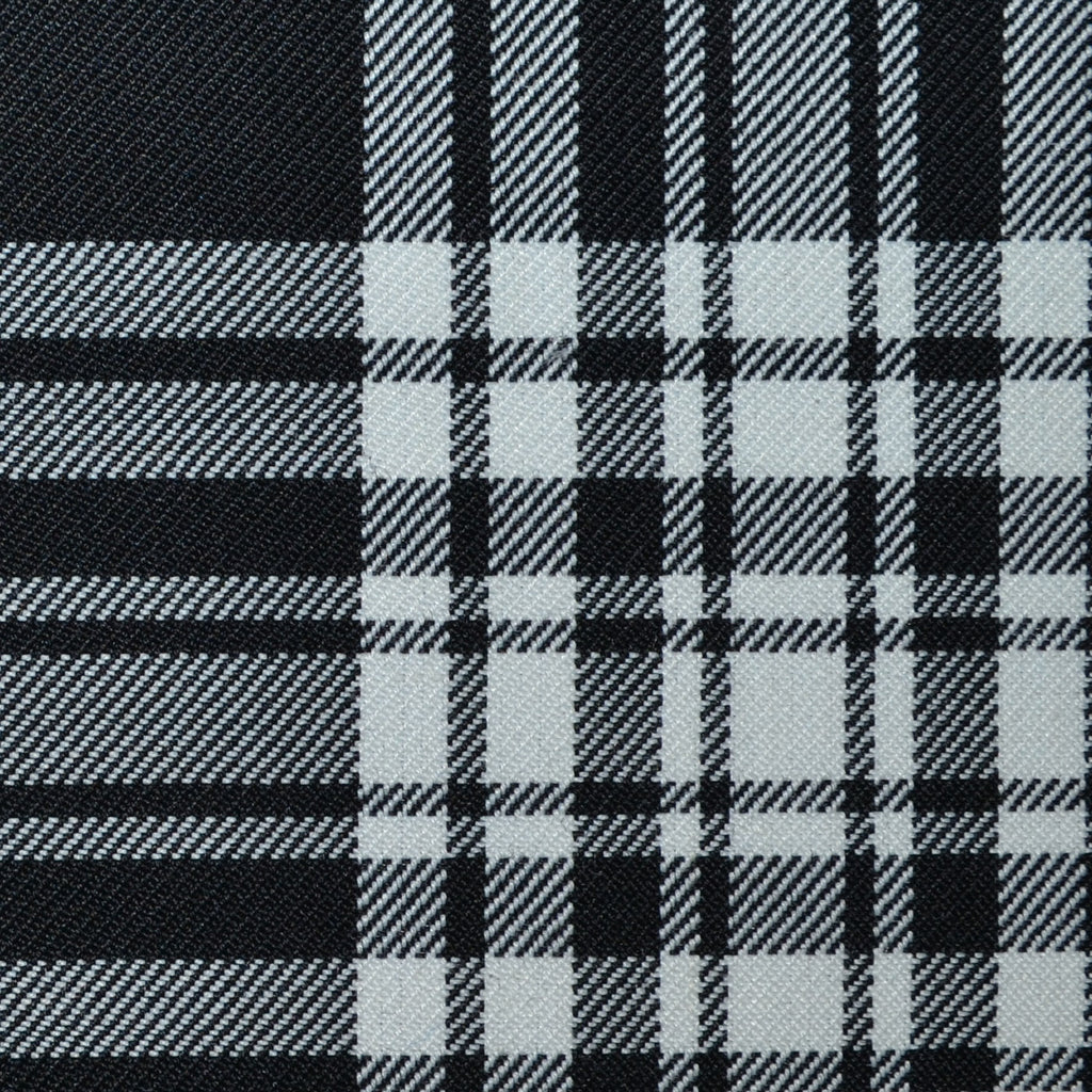 Menzies Black Poly/Wool Tartan