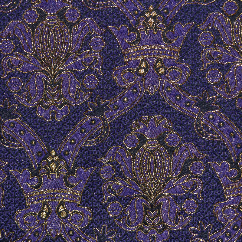 Purple & Gold Damask Jacquard Metallic Jacketing