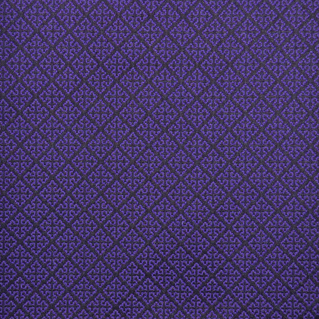 Purple & Navy Blue Damask Jacquard Jacketing