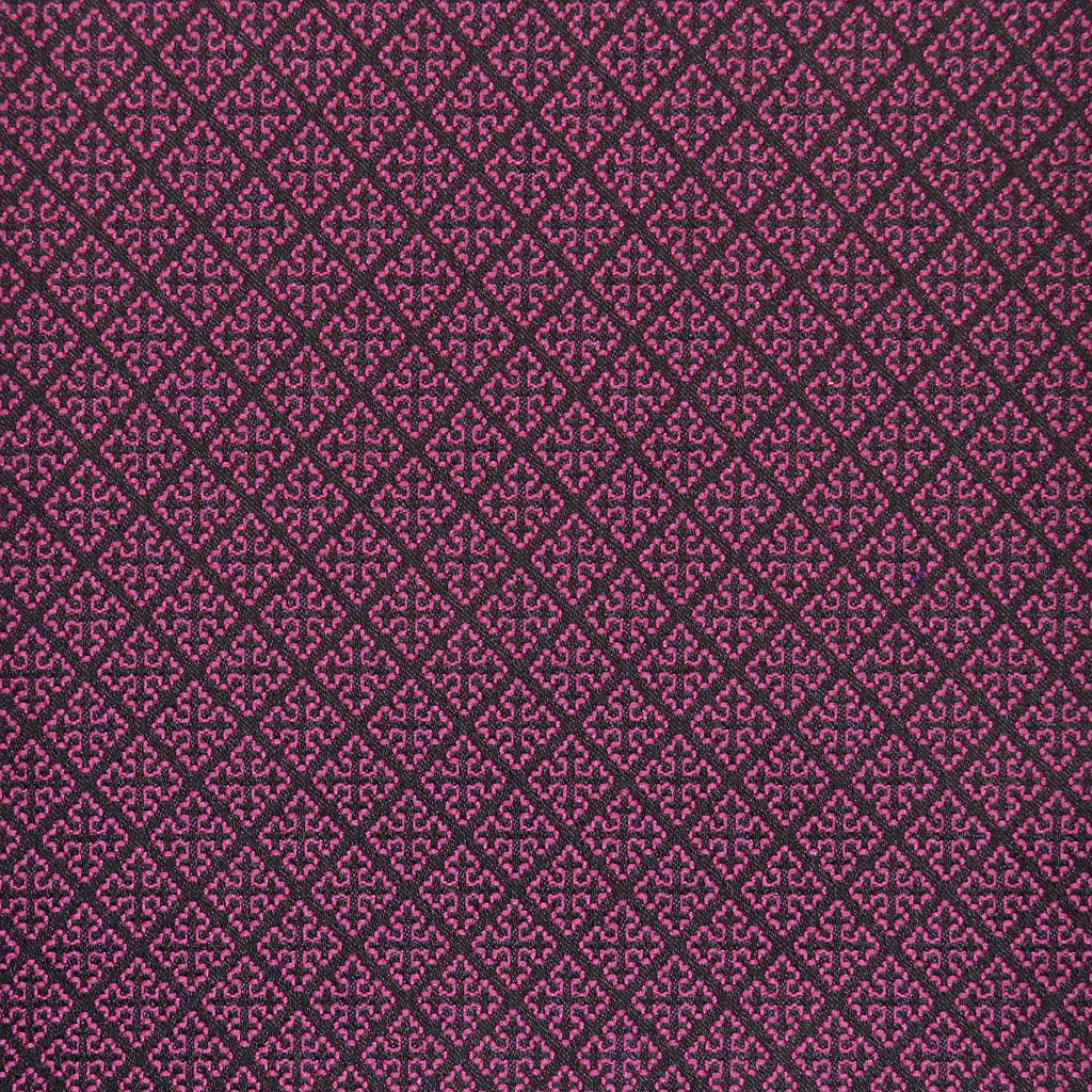 Pink & Navy Blue Damask Jacquard Jacketing