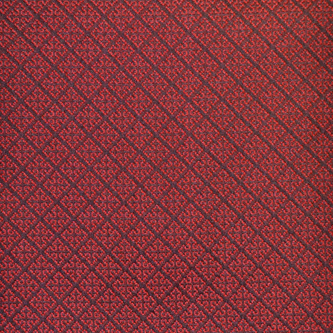 Red & Navy Blue Damask Jacquard Jacketing