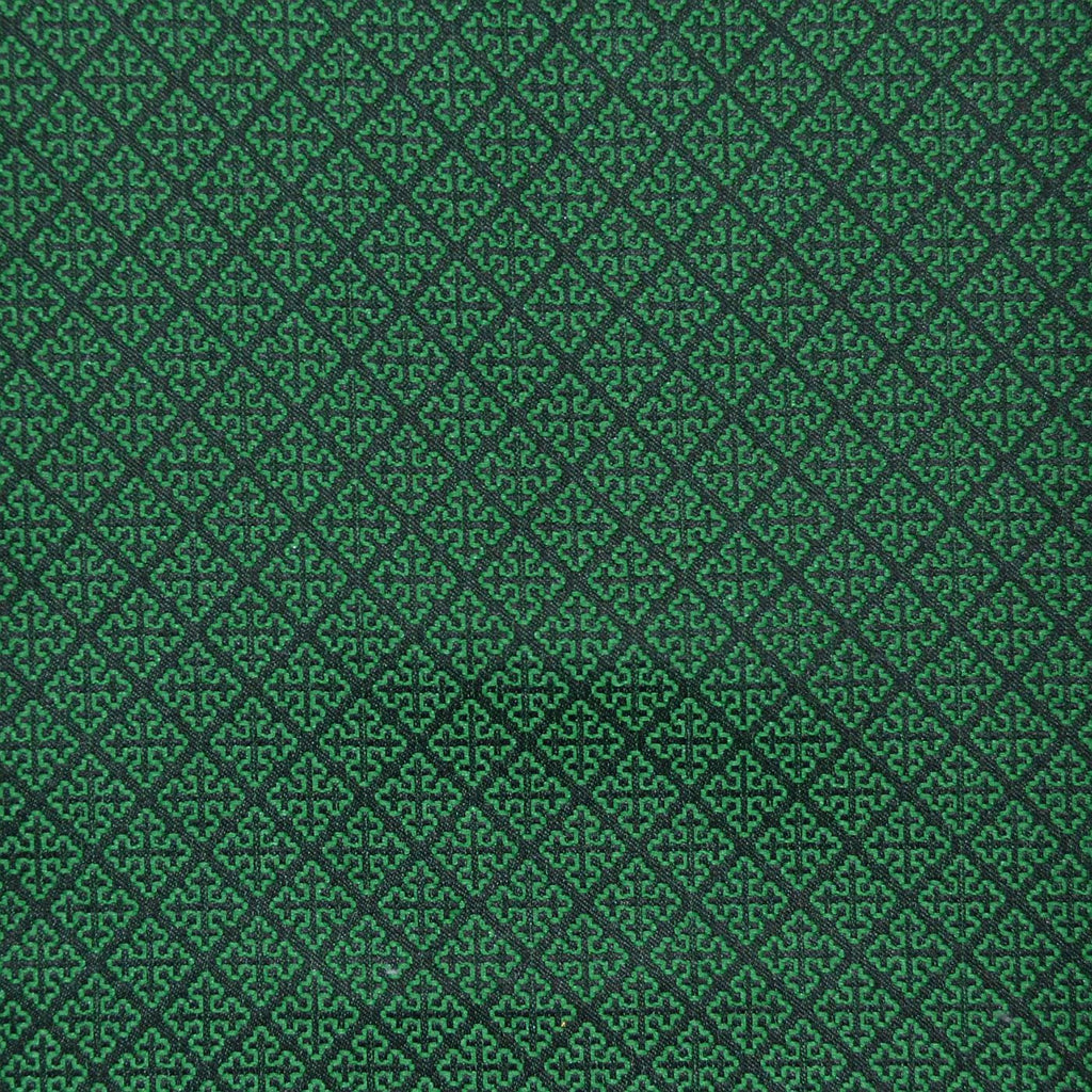 Green & Navy Blue Damask Jacquard Jacketing