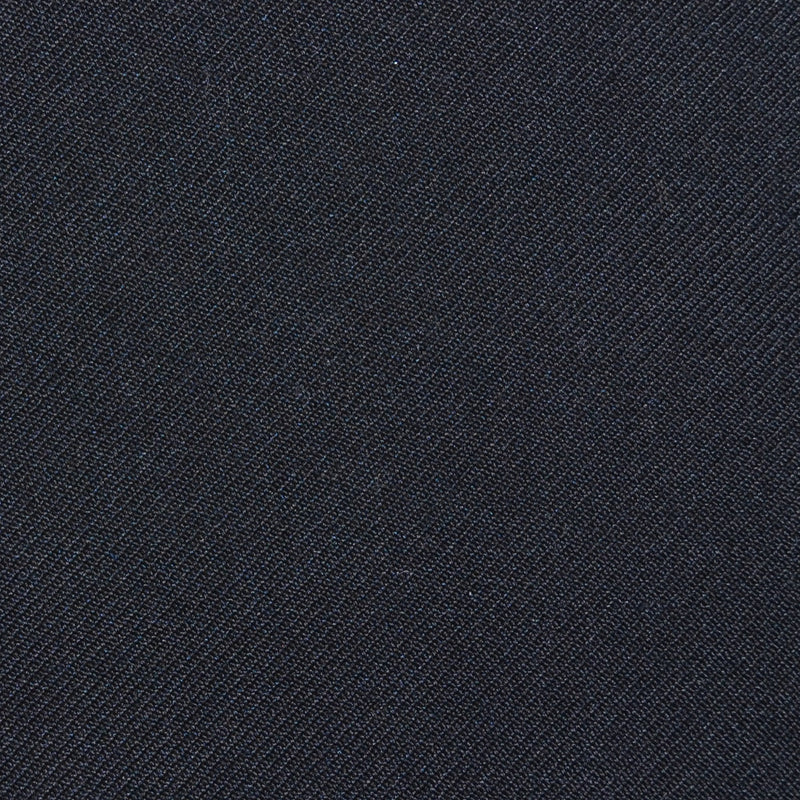 Black Twill Super 100's Wool Blend Suiting