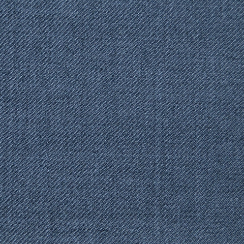 Grey Twill Super 100's Wool Blend Suiting
