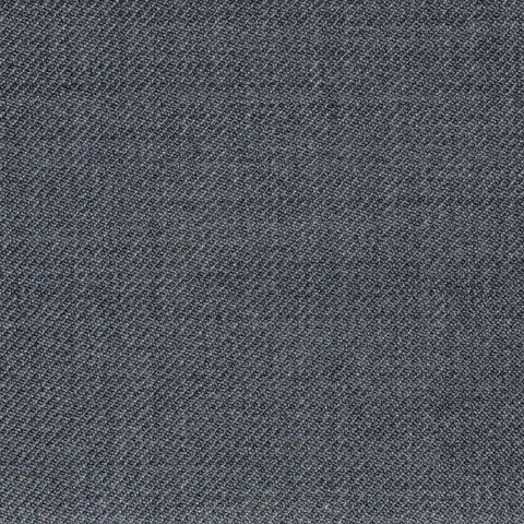 Flannel Grey Twill Super 100's Wool Blend Suiting