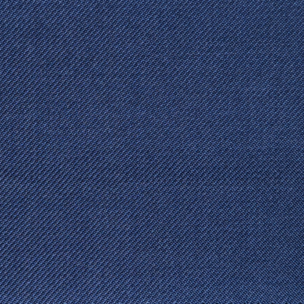 Airforce Blue Twill Super 100's Wool Blend Suiting