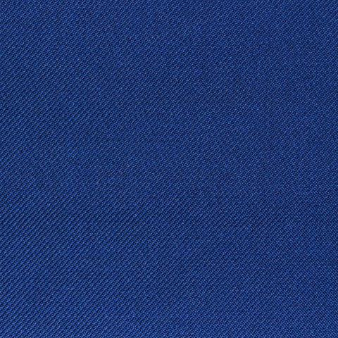 French Navy Blue Twill Super 100's Wool Blend Suiting