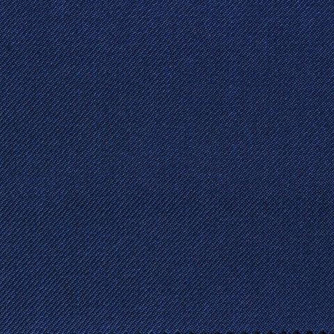 Light Navy Blue Twill Super 100's Wool Blend Suiting
