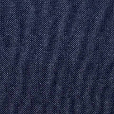 Dark Navy Blue Twill Super 100's Wool Blend Suiting