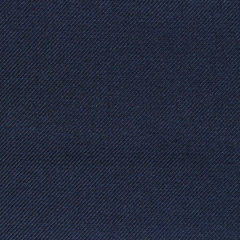 Midnight Blue Twill Super 100's Wool Blend Suiting