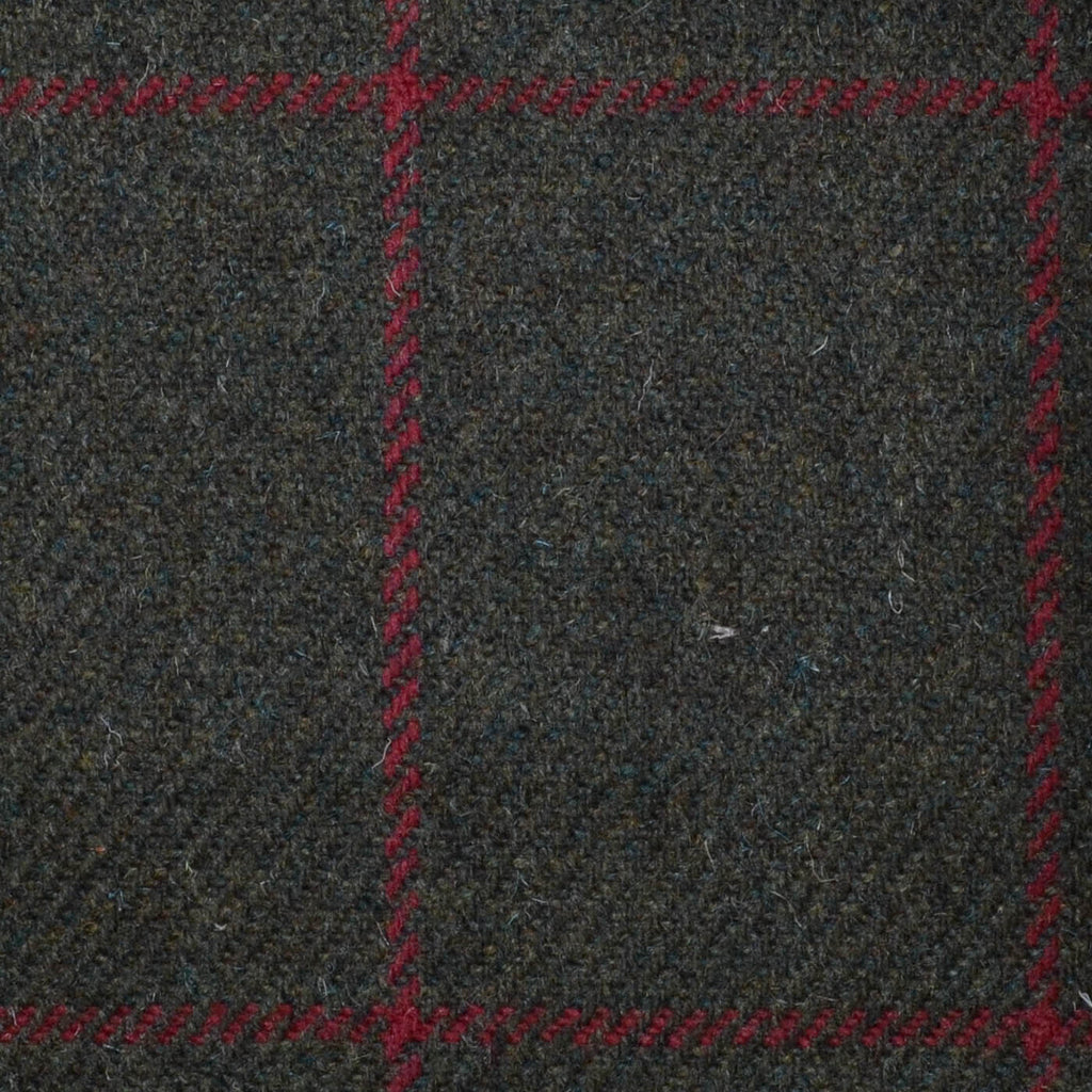 Brown with Red Check Tweed