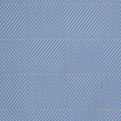 Light Blue Herringbone Check Cotton Shirting
