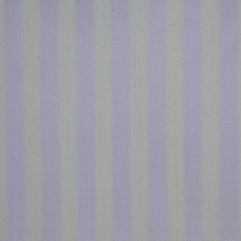 White & Lilac Stripe Cotton Shirting