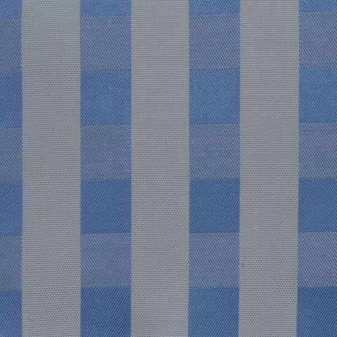 White & Light Blue Check Cotton Shirting