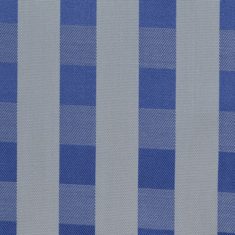 White & Dark Blue Check Cotton Shirting