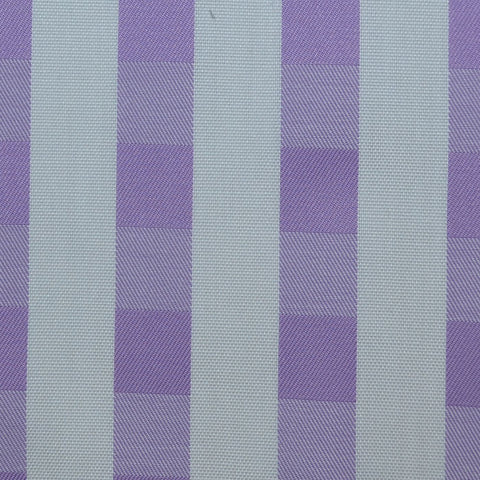 White & Lilac Check Cotton Shirting