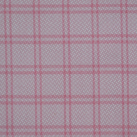 Light Pink with Dark Pink Check Cotton Shirting