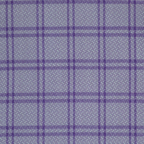 Lilac with Dark Purple Check Cotton Shirting