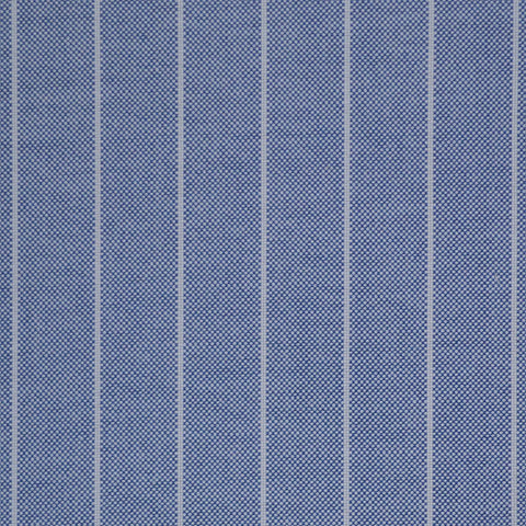Blue Stripe Oxford Cotton Shirting