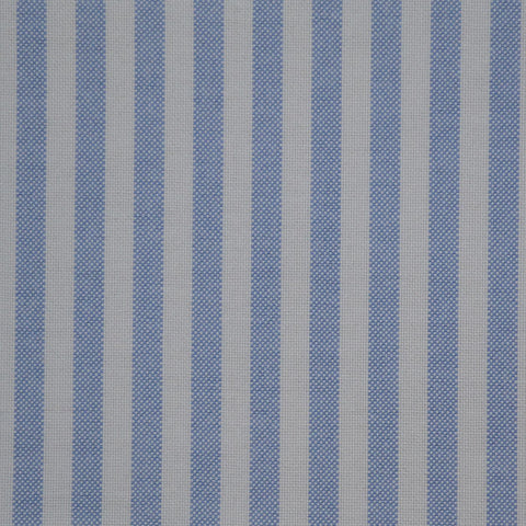 Light Blue & White Stripe Oxford Cotton Shirting