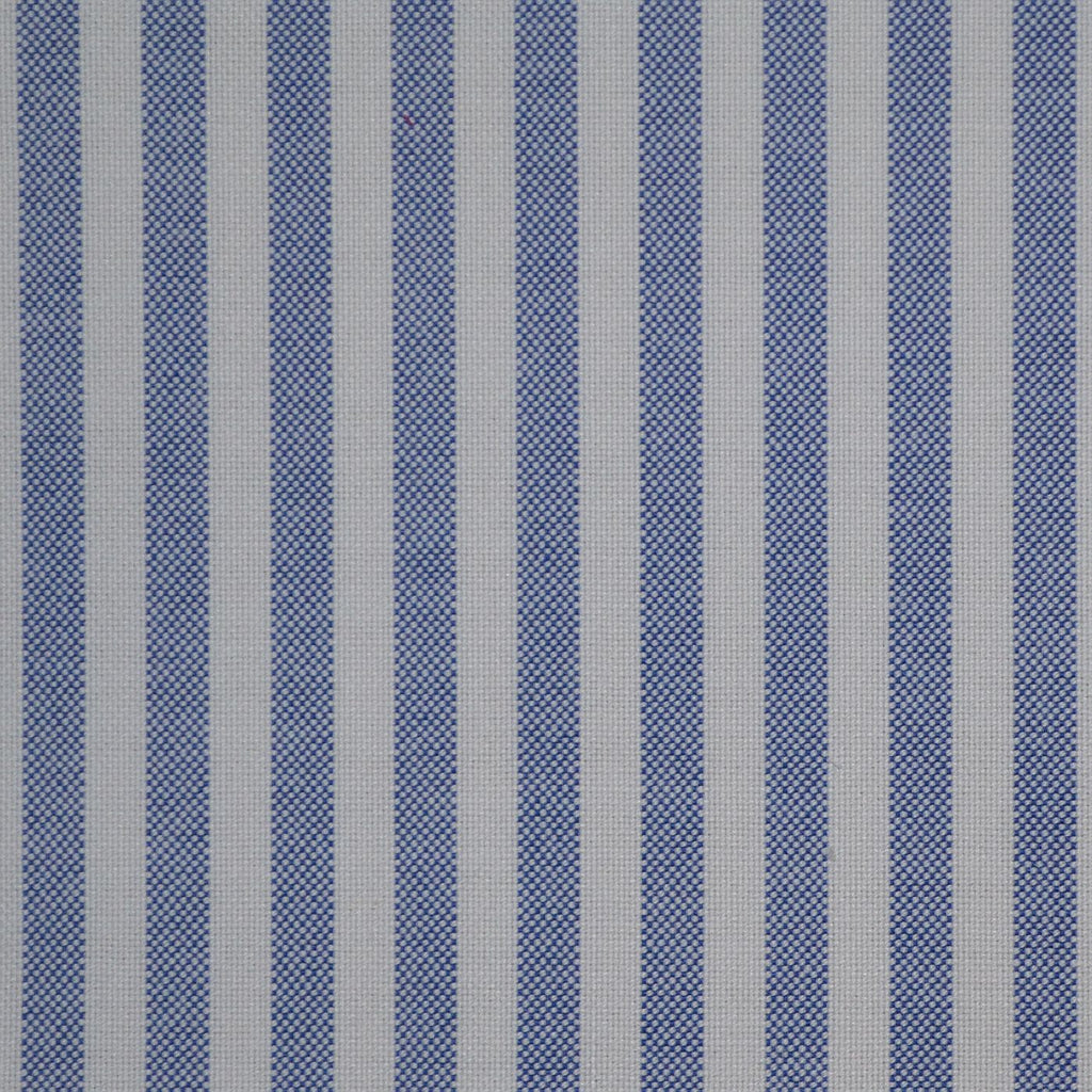 Blue & White Stripe Oxford Cotton Shirting