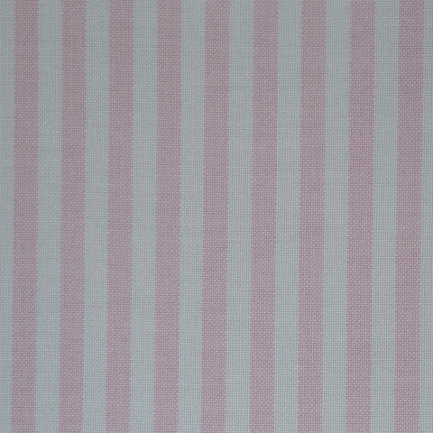 Pink & White Stripe Oxford Cotton Shirting