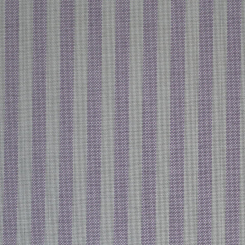 Lilac & White Stripe Oxford Cotton Shirting
