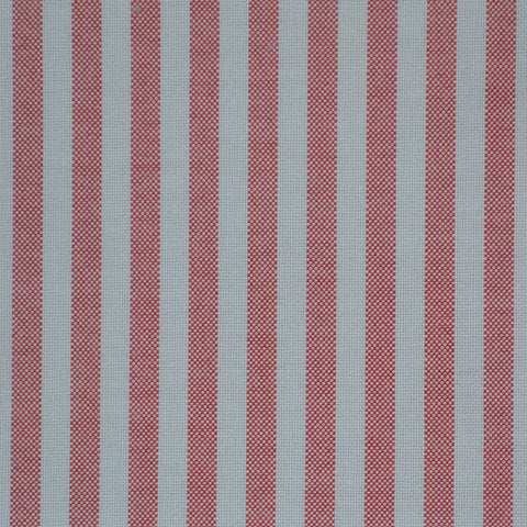 Red & White Stripe Oxford Cotton Shirting