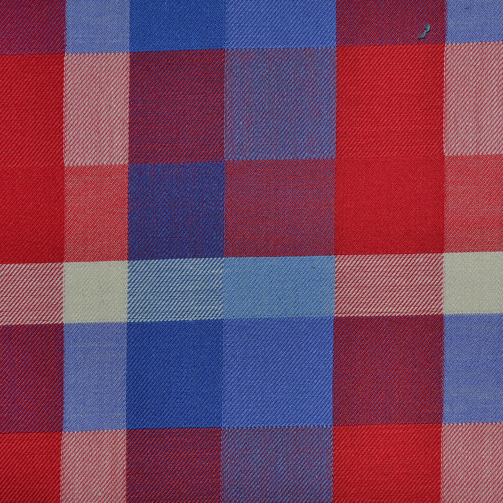 Red & Blue Multi Check Cotton Shirting