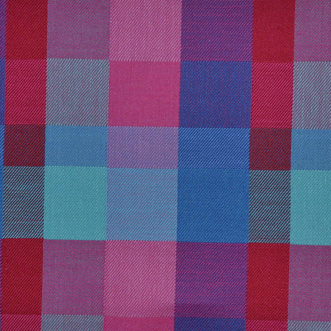 Pink, Red & Blue Multi Check Cotton Shirting
