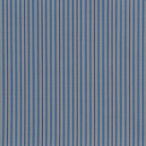 White with Blue & Dark Blue Stripe Cotton Shirting
