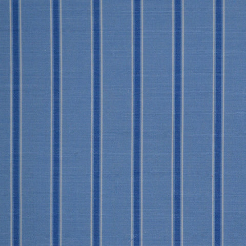 Blue with Dark Blue Stripe Cotton Shirting