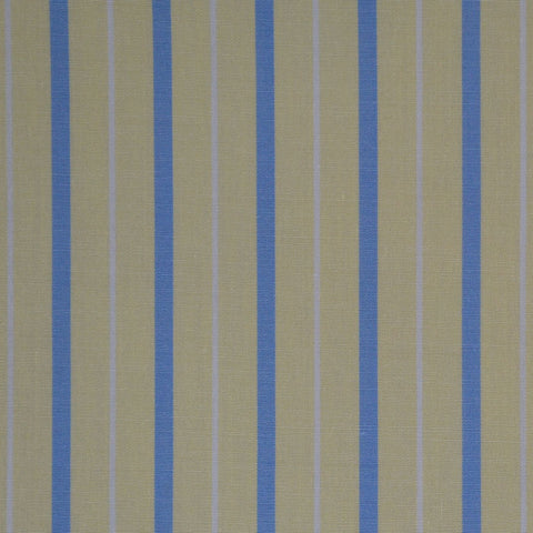 Yellow with Blue & White Stripe Cotton Shirting