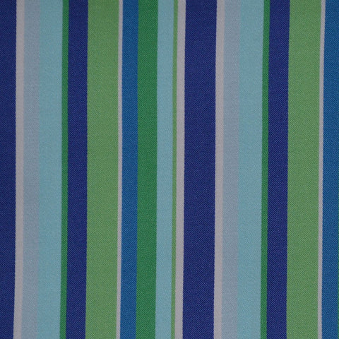 Blue, Green & Light Blue Multi Stripe Cotton Shirting