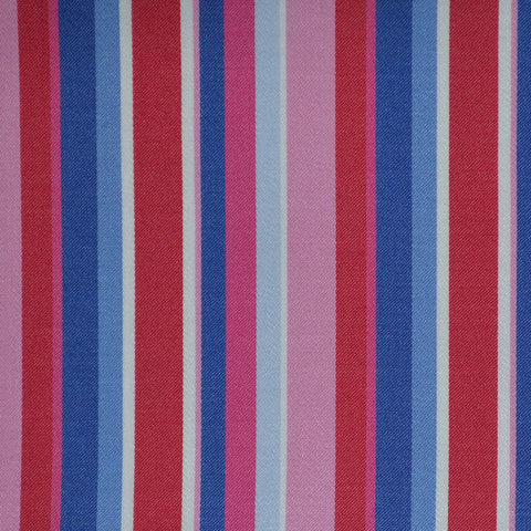 Pink, Red & Blue Multi Stripe Cotton Shirting