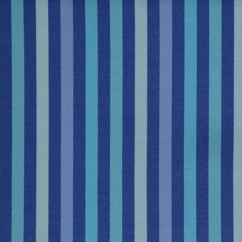Blue Multi Stripe Cotton Shirting