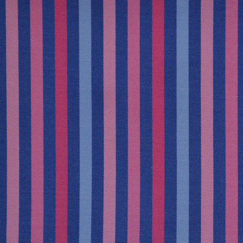 Blue & Pink Multi Stripe Cotton Shirting