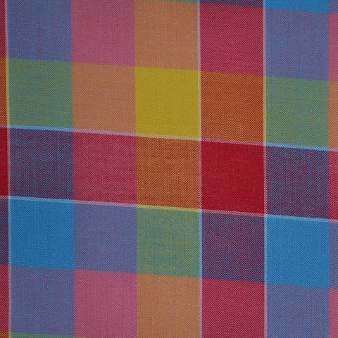 Red, Blue, Pink & Green Multi Check Cotton Shirting