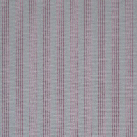 White with Pink Stripe Cotton Shirting