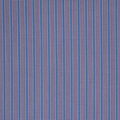 Purple with White & Blue Stripe Cotton Shirting