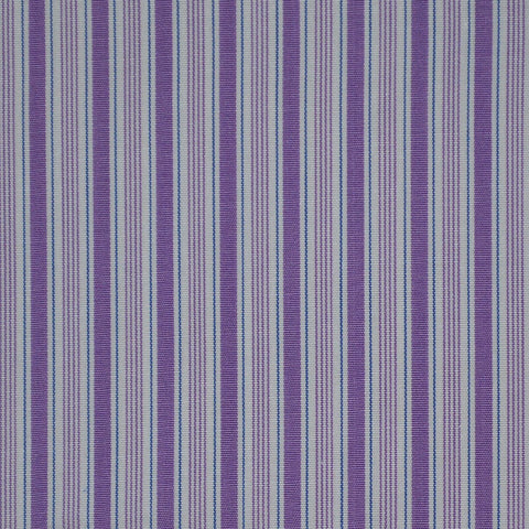 White with Purple & Blue Stripe Cotton Shirting