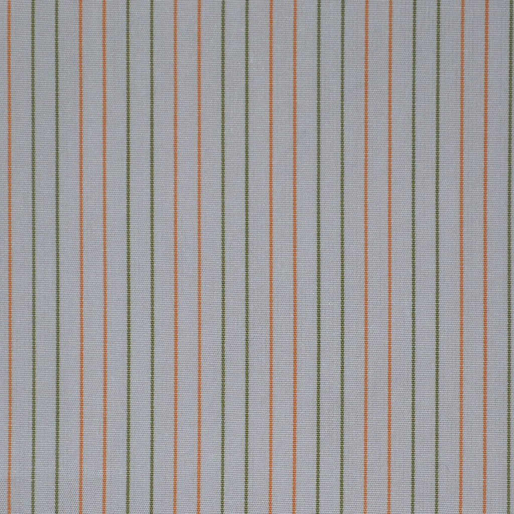 White with Orange & Green Stripe Cotton Shirting